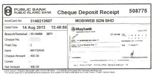 citibank credit card payment by cheque